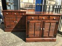 Stained Pine Cabinets £65 Each