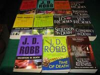 JD Robb books $1 each or $10 for the lot