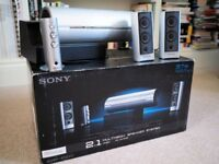 Sony SRS DZ10 2.1 PC Speaker System - 37 Watts - Very Good Condition - Boxed