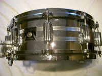 "Tama Imperial Star seamless steel snare drum 14 x 5 1/2"" - Japan- '80s -Original model - Roller bed"