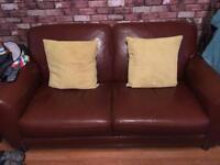 Free 2 x 2 seater leather sofas Free