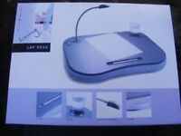 Portable Cushioned Laptop Computer Writing Homework Lap Tray Desk Table