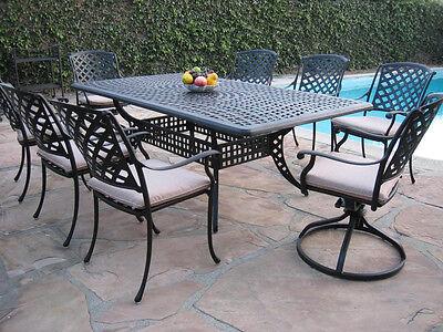 Outdoor Cast Aluminum Patio Furniture 9 Piece Dining Set KR