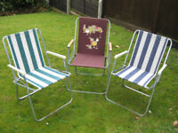 Three Foldaway Picnic Chairs