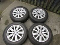 VW GOLF MK6 alloy wheels and tyres 196/65 R 15