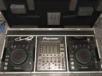 pioneer cdj 1000 mk3 x2 and djm 600 mixer in flight case