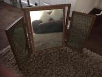 Antique Triple Dressing Table Mirror