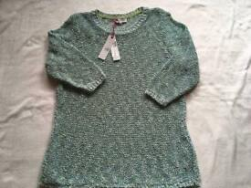 Markespencer ladies crochet jumper round neck 3/4 sleeves brand new £18 Rrp £35