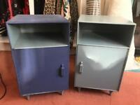 Vintage retro bedside cupboards pair