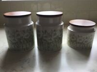 Hornsea original 1970's kitchen storage containers