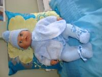 NEW hand knitted clothes to fit baby BOY OR GIRL annabell/baby born 16/18 INCH DOLLS