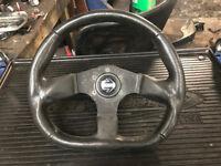 momo flat bottom wheel with boss to suit eg6 vti del sol 92-95