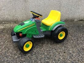 Peg Perego ride-on, battery powered John Deere tractor. Years 2 to 5. Excellent condition.