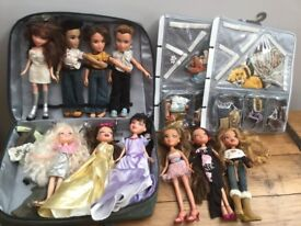 Collection of Bratz dolls, accessories and carry case