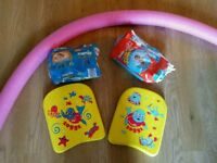 Zogg Swim floats. Swimming noodle. Suze 5 & 6 swim pants nappies. All for £5