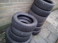 ★ 12 For £30 PART WORN TYRES JOB LOT £2.50 EACH ★