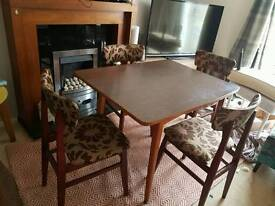 Vintage 60s retro dining table ams chairs
