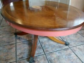 Reproduction Edwardian Style Oval Coffee Table