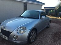 Daihatsu Copen Convertible, two seater, red leather seats, MOT til Sept '18.