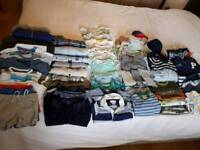 Big bundle of baby boy clothes 3 to 6 months