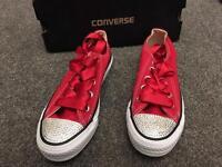 Women's size 4 custom converse