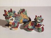 Two Chinese Altar lion dogs
