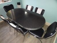 American Diner Furniture Set: including table, 6 chairs and 2 stools
