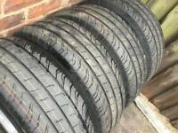 "17"" VW Transporter T6 T5 T32 Alloy Wheels Conti Tyres Highline Sportline"