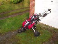 Set Acer RH golf clubs/bag/trolley