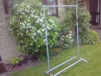 CLOTHES RAIL MADE OF IRON - adjustable & held together by allen keys - suitable for car boots