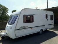 🚩2002 LUNER SOLAR 2 BERTH END BATHROOM LIGHT WEIGHT COMES WITH A FULL AWNINGS READY TO GO