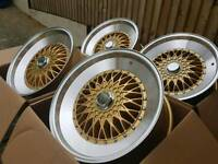 "Brand new 18"" BBS RS step up Style alloy wheels 5x120 5x112"