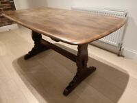 Vintage Mid-Century wooden Ercol refectory dining table