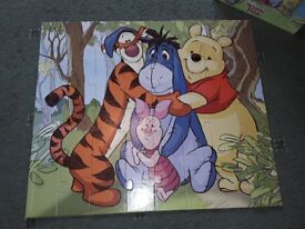 Winnie the Pooh Floor Puzzle,Age 3+, Good Condition