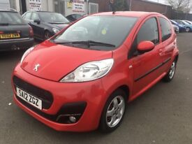2012 Peugeot 107 1.0 , mot - May 2019 , only 15,000 miles , service history ,aygo,corsa,c1,fiesta,