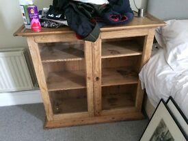 Antique Pine Cabinet/Bookcase