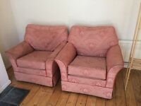 Two comfy arm chairs