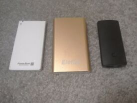 3 x mobile battery/charger