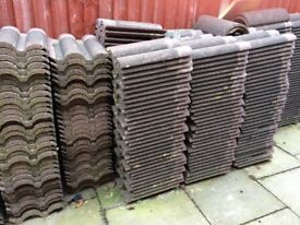 Roof tiles concrete. Marley bold rolled. Reclaimed.