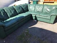 Lovely real leather corner sofa