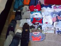 Big bundle clothes for baby boy 6-9 months 53 items