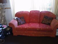 3 piece suite 3 seater settee and 2 arm chairs