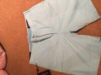 Light blue Ralph Lauren chino shorts