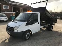 2010 ford transit 2.4 tdci 100T350 5 speed tipper excellent condition no vat
