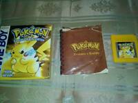 Boxed pokemon yellow with manual