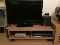 TV unit in beech effect laminate