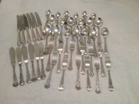 CHRISTMAS TABLE SILVER PLATED CUTLERY - for 6 people