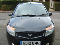 Proton Savvy Style 1.2 only 20,650 miles, Ideal First Car, 5 doors Black Hatchback