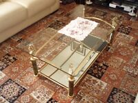 Glass coffee table good condition