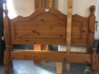 """A 4' 8"""" PINE BED FRAME"""